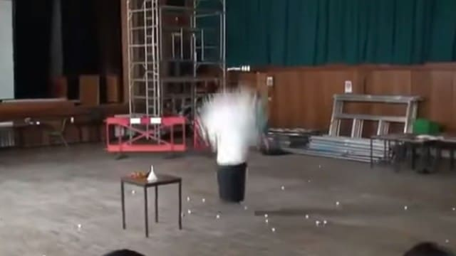 Liquid Nitrogen and 1500 Ping Pong Balls