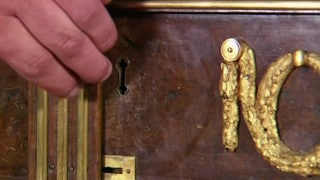 Extravagant furniture with secret panels, doors, and drawers