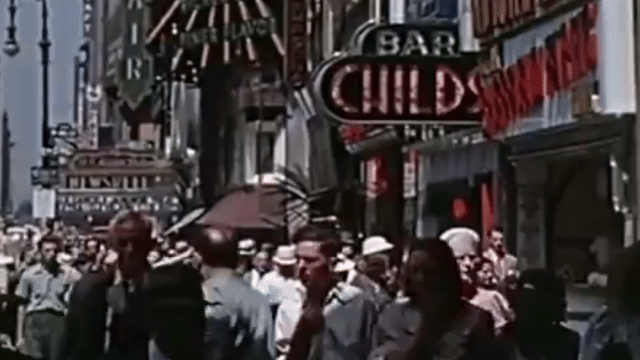 16mm Kodachrome film of New York City from 1939