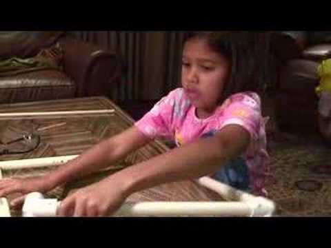 Make a homemade metal and pvc pipe xylophone