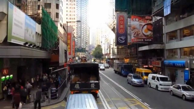 Riding a Hong Kong tram, a time lapse