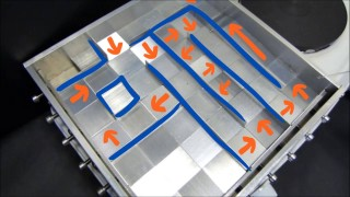 Leidenfrost Maze: Self-propelled droplets on a hot jagged surface
