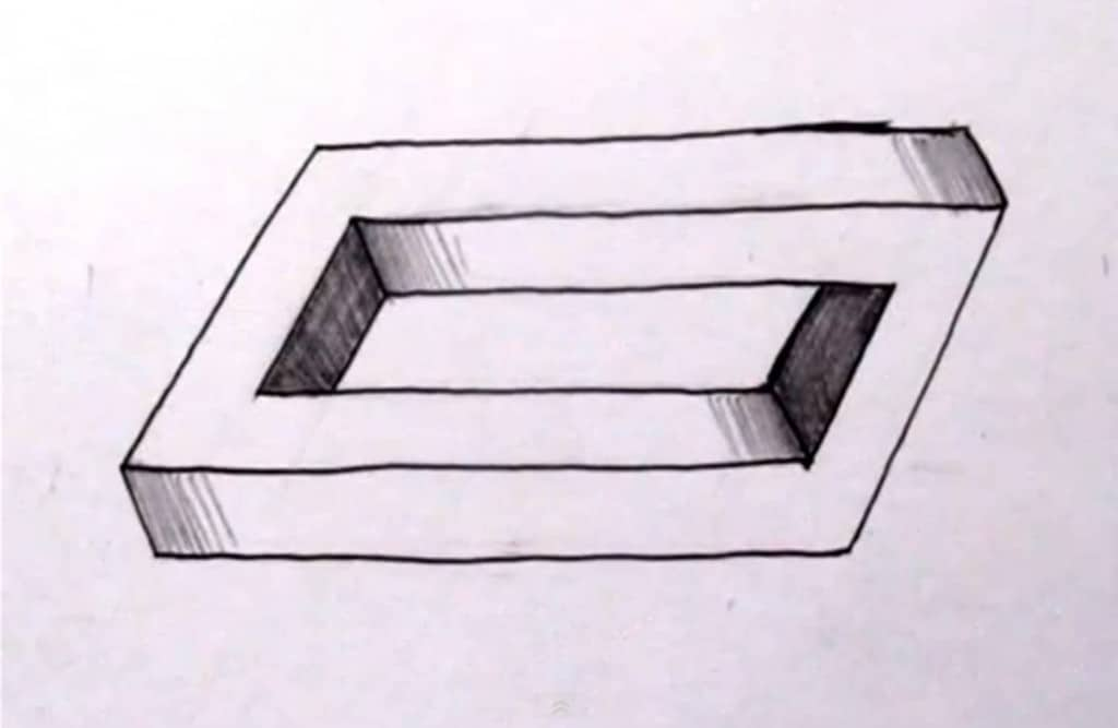 How To Draw A Penrose Rectangle Other Impossible Objects