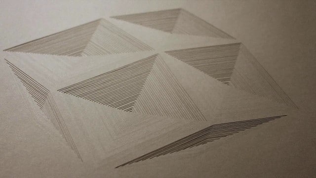 Geometrical Spaces: Cut-paper stop motion by Elena Mir