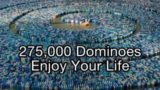 275,000 Dominoes – A spiraling 2013 world record