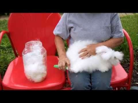Crocheting with English Angora Rabbit Wool