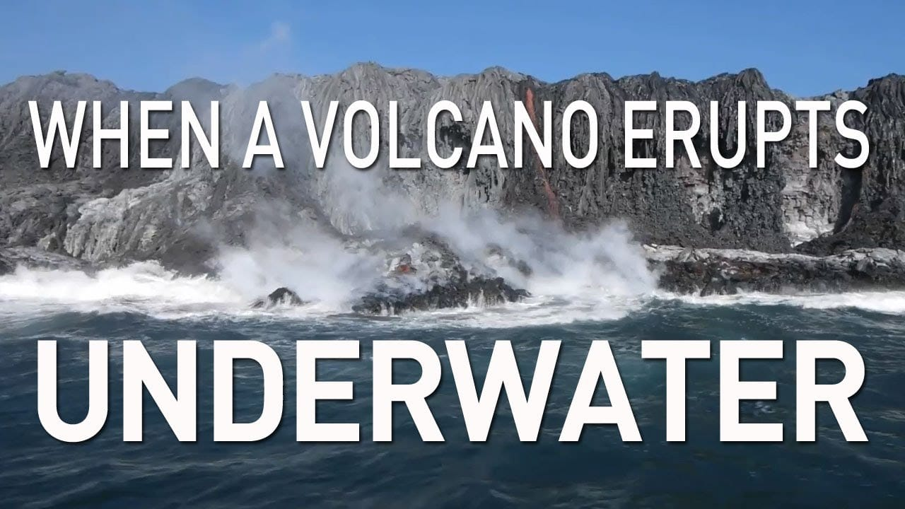 When A Volcano Erupts Underwater The Kid Should See This