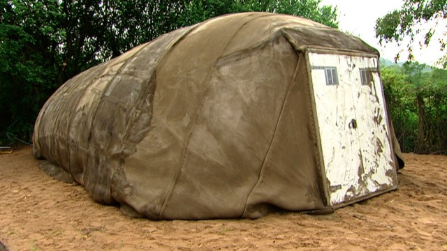 Shelter in 24hrs – Emergency Concrete-laced Canvas Tent