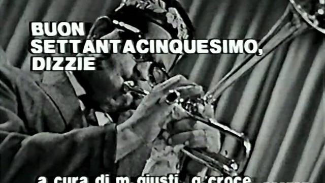 Dizzy Gillespie plays Tour de Force and Manteca on Italian TV (1960)