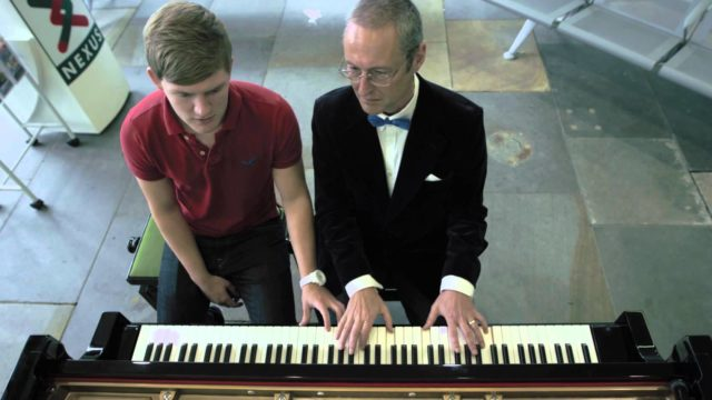 Bus Station Sonata: Commuters play Beethoven