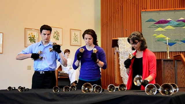 "Handbell ringers perform ""Married Life"" from Pixar's UP"