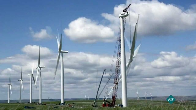 The time lapse assembly of wind-power turbines