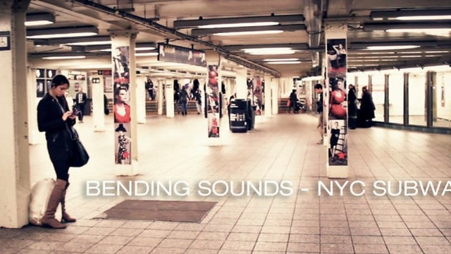 Bending Sounds: A New York City subway sound experiment