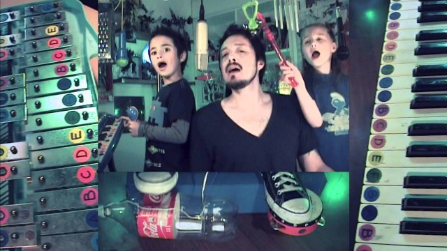 Dicken Schrader and his kids: Depeche Mode's Everything Counts