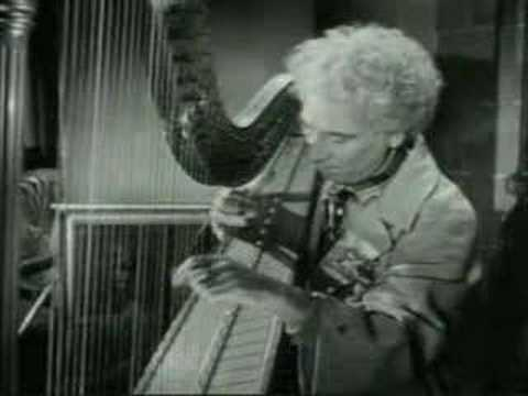 Harpo Marx plays his harp in A Night in Casablanca (1946)