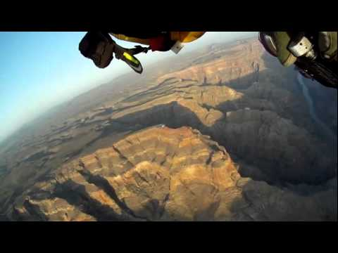 Jetman Yves Rossy flies over the Grand Canyon