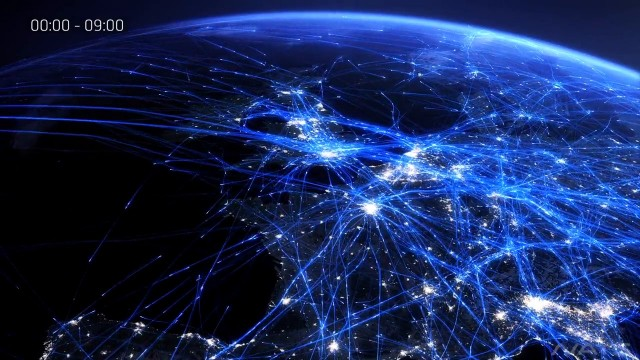 Mesmerizing flight visualizations over 24 hour periods