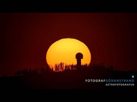 Watch a time lapse sunset through a solar telescope