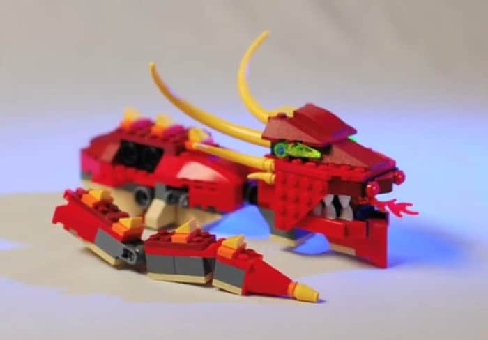 A LEGO Dragon self-assembles with stop motion animation | The Kid ...