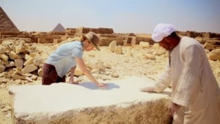 The Great Pyramid of Giza was bright white & highly polished