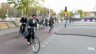 Bicycle rush hour in Utrecht, the Netherlands' fourth largest city