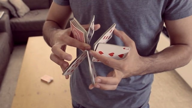 Cardistry: Making card flourishes look effortless with practice
