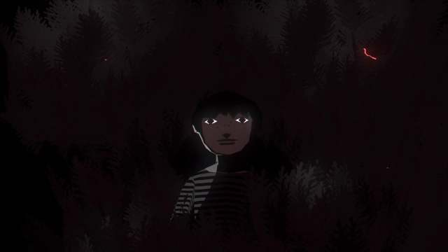 hiding but not really, a hypnotic looping animation