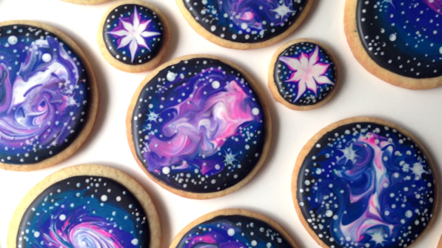 How To Decorate Galaxy Cookies – SweetAmbs