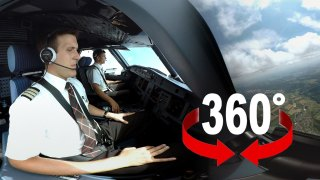 A 360 degree interactive cockpit view from an Airbus A320