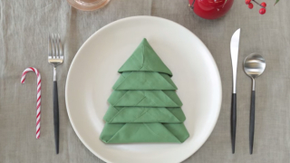 How to fold a Christmas Tree Napkin – Instructables