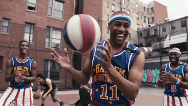 STOMP makes basketball music with the Harlem Globetrotters