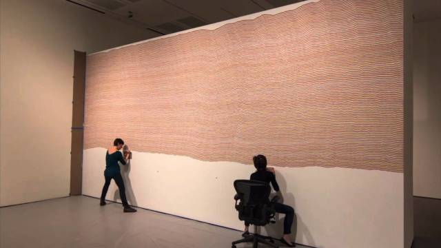 A time lapse of Sol LeWitt's Wall Drawing 797