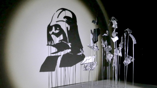 Anamorphic Star Wars Shadow Art by Red Hong Yi