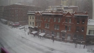 Winter Snowstorm Jonas, a time lapse in Manhattan