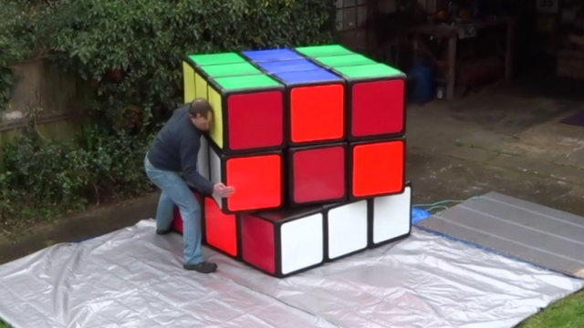 Is this the largest Rubik's Cube in the world?