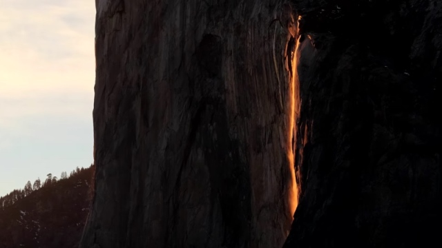 Yosemite's Horsetail 'firefall' at sunset