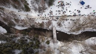 The Iditarod from above and from the trail