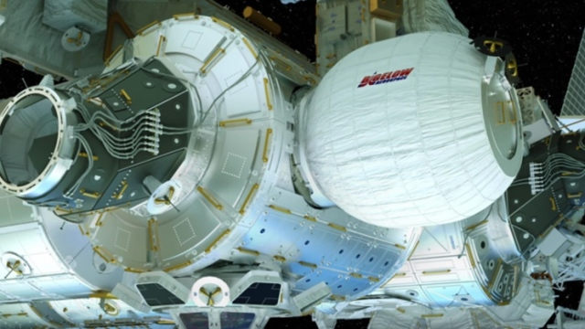 A 'bouncy castle' bedroom on the International Space Station