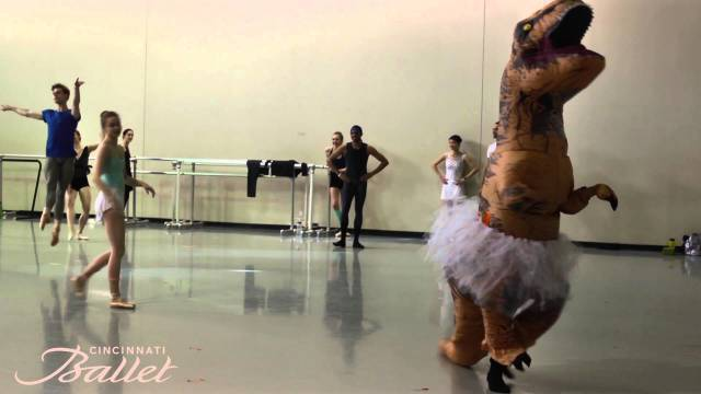 A T-Rex Dances Ballet