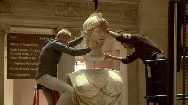 Installing massive statues with engineering and care at the Met