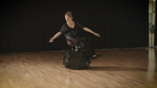The Rolling Dance Chair, an omnidirectional, hands-free wheelchair