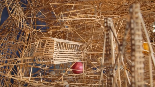 Scott Weaver's 'Rolling through the Bay' toothpick sculpture