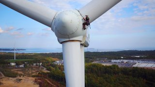 Climbing Wind Turbines for a Living