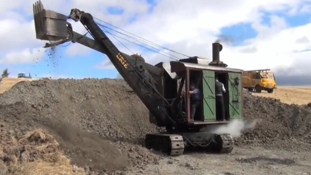 Erie Type A and B Steam Shovels from over 100 years ago