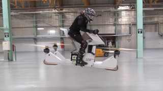 The Scorpion-3 hoverbike, a 'human-carrying drone'
