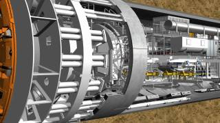 How does a tunnel boring machine work?