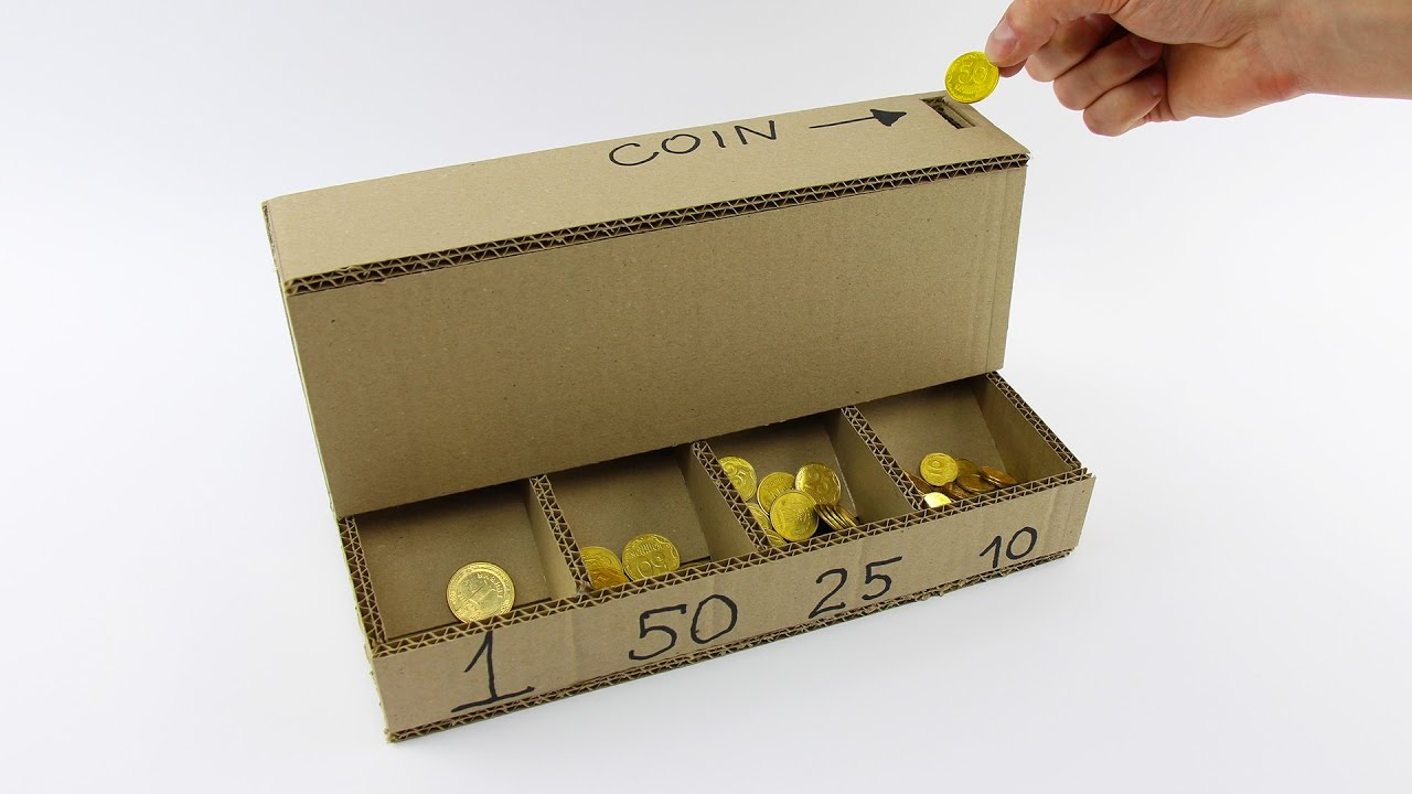 How to make a coin sorting machine with cardboard the kid should how to make a coin sorting machine with cardboard the kid should see this sciox Images