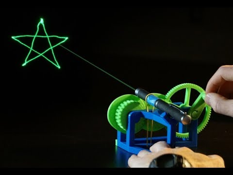 A 3D printed mechanical laser show machine