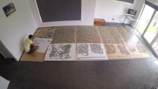 An epic 33,600 piece jigsaw puzzle time lapse