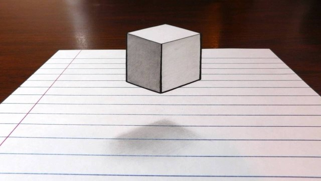 How to draw a floating / levitating cube
